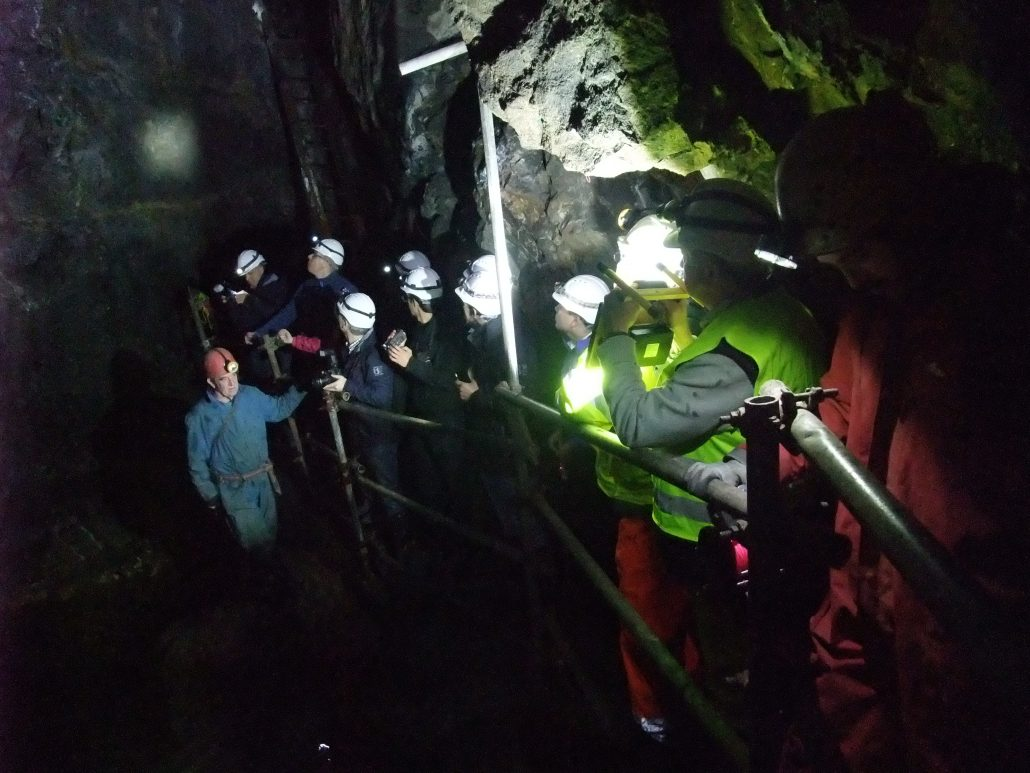 UNEXMIN group studying actual conditions for UX-1 at Deep Ecton
