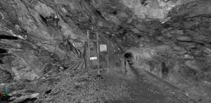 Laser image obtained from the Ecton mine