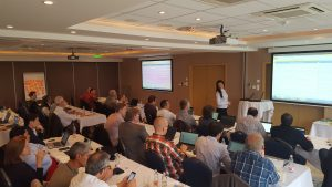 UNEXMIN meeting - A presentation, being held by one of the partners of the UNEXMIN project, in Miskolc.