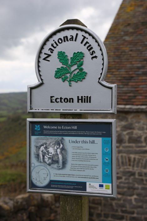 UNEXMIN meeting - Ecton Hills entrance sign