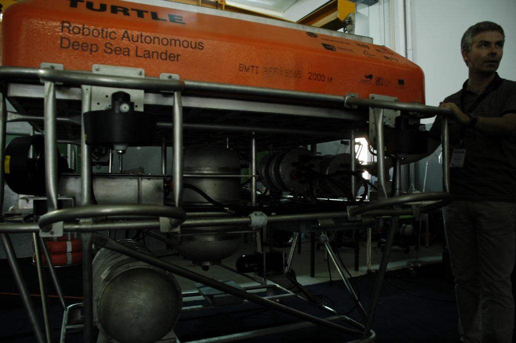 UNEXMIN meeting: autonomous robotic system that goes into the sea floor.