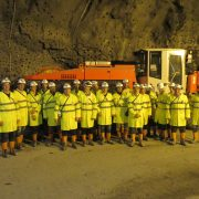 UNEXMIN members visiting Sandvik Mining and Construction test mine
