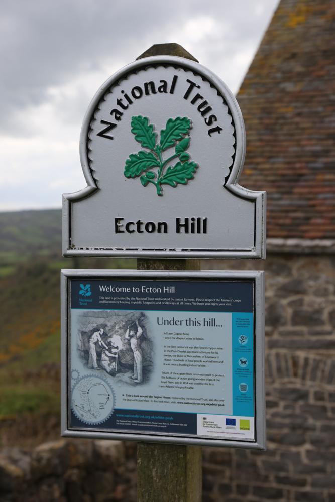 UNEXMIN meeting - Ecton Hills entrance sign
