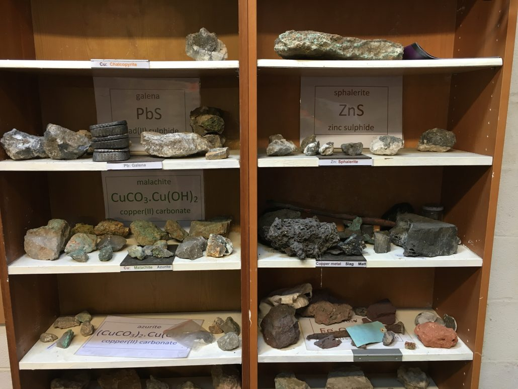 UNEXMIN meeting - minerals from Ecton Mines