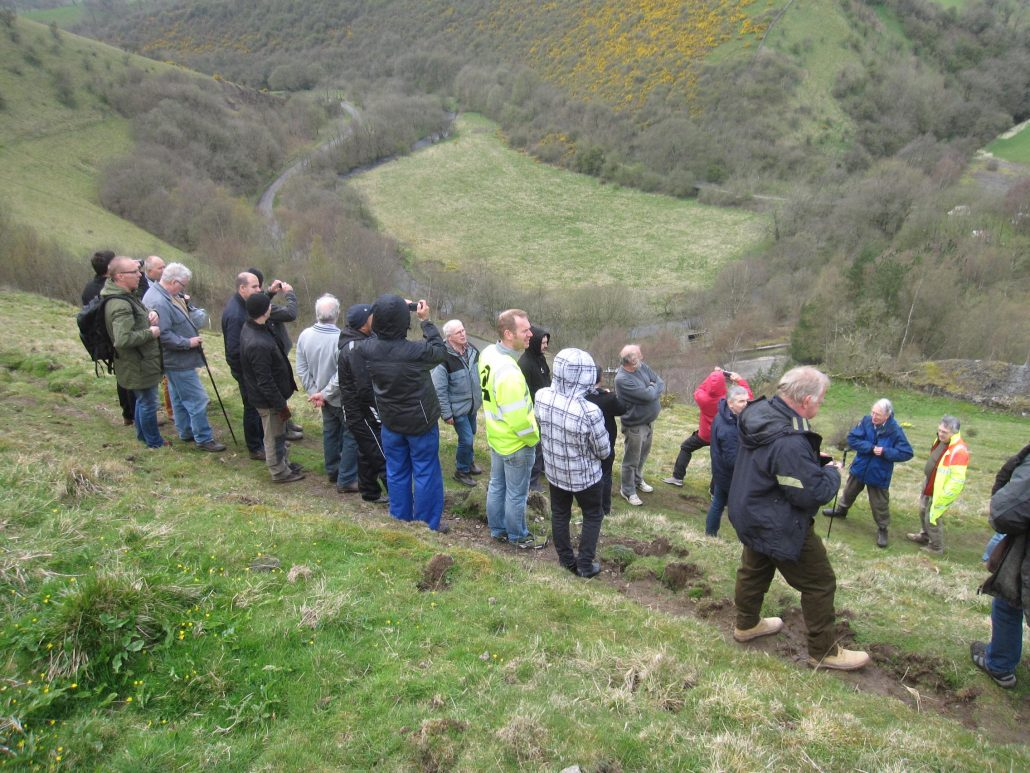 UNEXMIN meeting - View at Ecton Hills