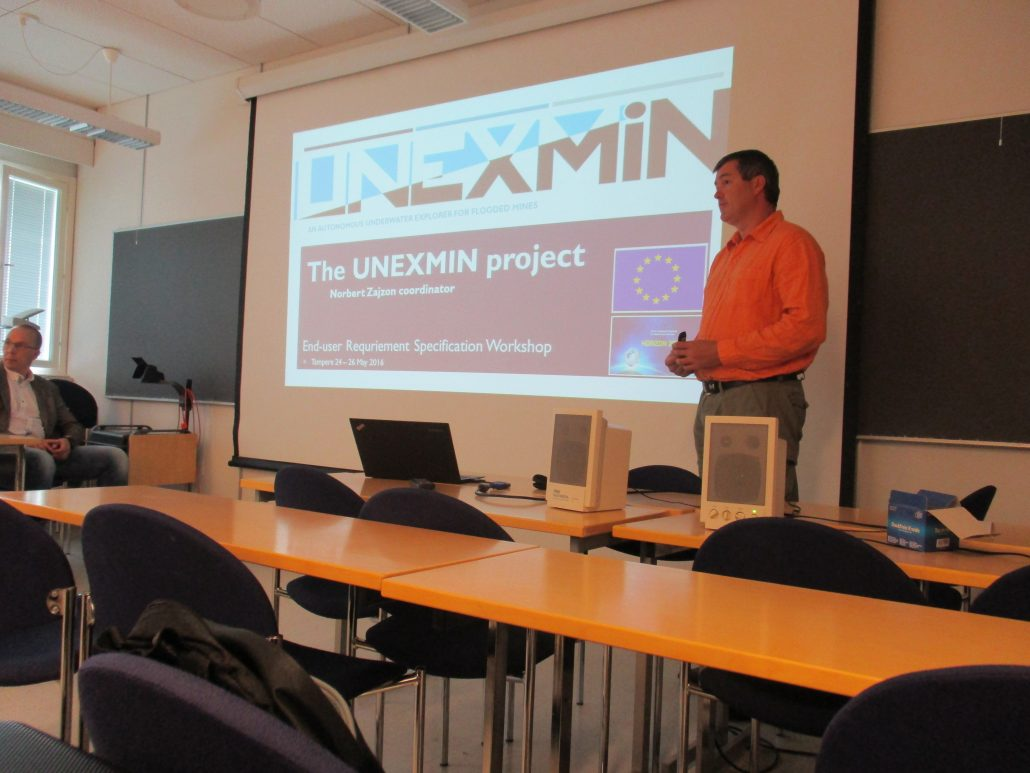 UNEXMIN meeting - Presentation on the project