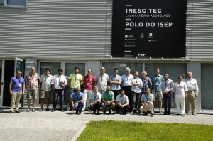 UNEXMIN team at Porto Follow-up meeting. Photo in front of INESCTEC lab building.
