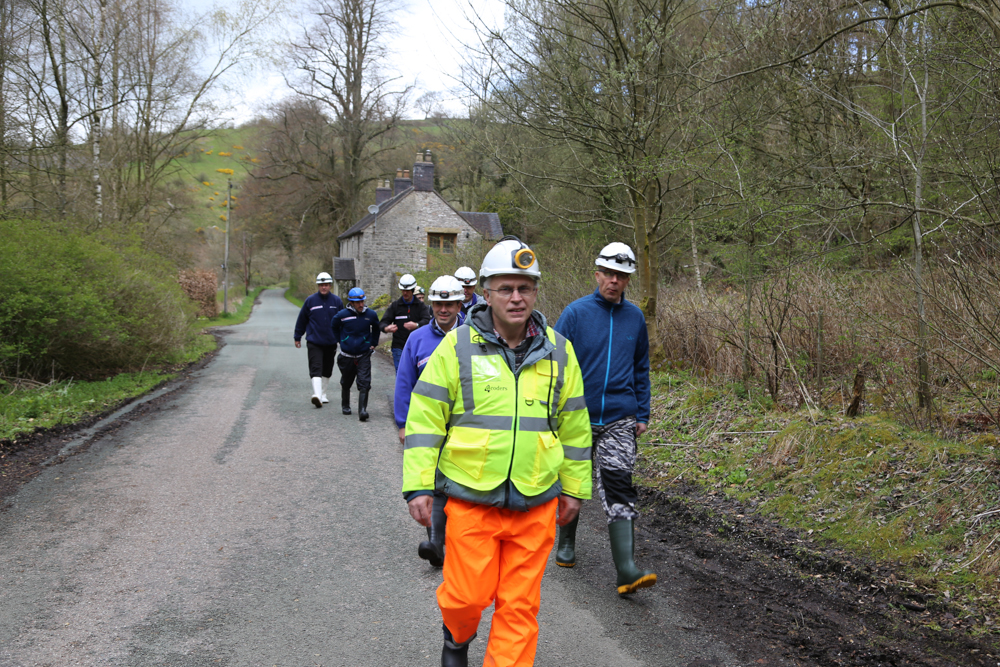 UNEXMIN meeting - Walk to the Ecton Mines